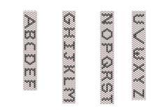 Block Capital Letters Peyote Pattern