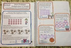 Grade Interactive Math Notebook - Operations & Algebraic Thinking at Create●Teach●Share Interactive Math Journals, Math Notebooks, Math Genius, Math Graphic Organizers, Math Word Problems, Math Books, Third Grade Math, Math Classroom, Classroom Ideas