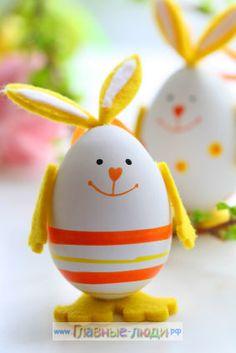 Поделки из яиц для детей, пасхальная поделка для детей, детские поделки из яиц, украшение пасхальных