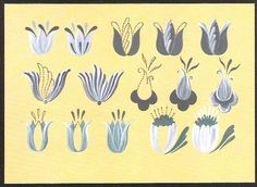 step-by-step Folk ART Flowers - Oksana Volkova - Picasa Web Albums Tole Painting, Fabric Painting, Diy Painting, Painting & Drawing, Folk Art Flowers, Flower Art, Flor Henna, Canal Boat Art, Painted Books
