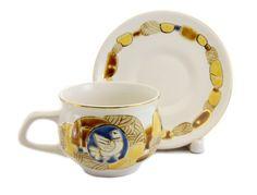 Byzantium Cup and Saucer Set, $22.00, Cup: 240 ml (8.2 oz) capacity, Catalog of St Elisabeth Convent. Unique collection. #CatalogOfGoodDeed #gift #present #buy #order #sweethome #design #kitchen #byzantium #teapot #cup #tea #handmade http://catalog.obitel-minsk.com/ceramics-workshop