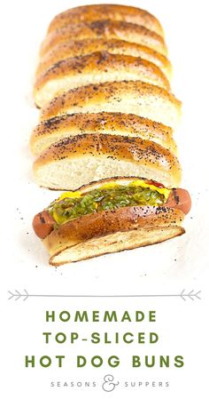 Elevate your summer hot dogs with this easy homemade hot dog buns. These New England style, top-sliced buns also have tall soft sides that toast up beautifully!