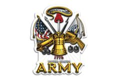 U.S. Army This We'll Defend Antique Armor Reflective Decal from Mustang Loot