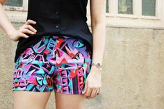 Gratis Schnittmuster für Damen-Shorts ❤ Foto-Tutorial ❤ PDF zum Ausdrucken ❤ Schnittmuster ❤ Freebook ✂ Jetzt Nähtalente.de besuchen ✂