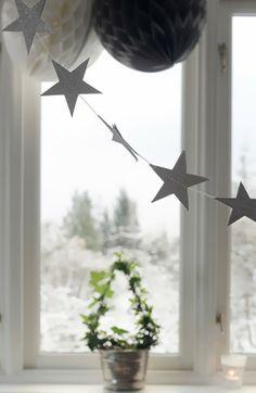 Simple star garland