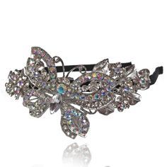 Prom Collection Crystal Sparkly Tiara Vintage Butterfly - 4EverBling
