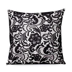 Decorative Pillows - Onna Cushion Cover (Black)