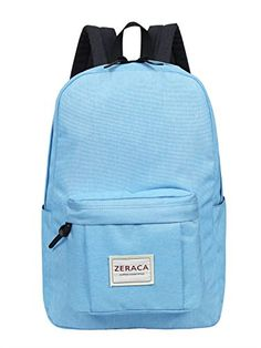 Zeraca Women Men Laptop Backpack Daypack for Middle High School College * For more information, visit image link.