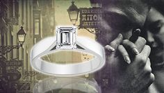 White Gold Diamond Engagement Ring - http://www.engagement-rings-info.org/emerald-cut-engagement-rings/