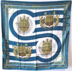 Hermes Vintage Chateaux D'arriere Silk Scarf Scarves & Wraps $455