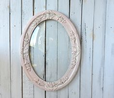 Large Shabby Pink Frame Ornate Wooden Distressed Accents by YWart