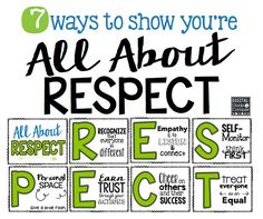 Showing you are all about RESPECT