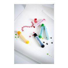 MÅLA Stamp pen IKEA Stamp pens with 6 different symbols make it easy for children to create personal cards and invitations.