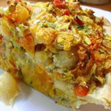 Roasted Root Vegetable Pie: King Arthur Flour (sub. dairy-free cheese, gluten-free flour and egg replacer.)
