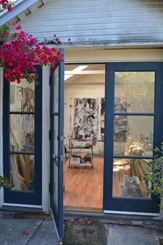 Amy Bouse, studio | Flickr - Photo Sharing! Studio Shed, Art Studio At Home, Home Art, Dream Studio, Garage Art Studio, Cozy Backyard, Backyard Studio, Garden Studio, Shed Design