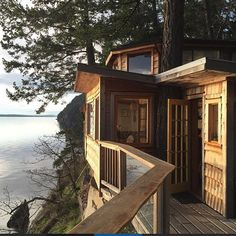 A cozy cliffhouse cottage rental property on Galiano Island (just a short ferry ride from Vancouver, B.C., Canada).  Photo by @aj_barker