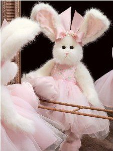 "Amazon.com: Tippy Toes 14"" Ballerina Bunny Dressed Plush Stuffed Animal: Toys & Games Easter bunny"