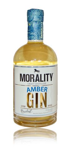 Morality Amber Gin from Black Horse Distillery Gin Brands, Gin Lovers, Morality, Hot Shots, Gin And Tonic, Distillery, Vodka Bottle, Amber, Bottles