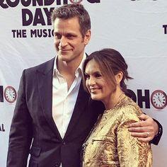 Peter Hermann and Mariska Hargitay attend the 'Groundhog Day' Broadway Opening Night at August Wilson Theatre on April 17, 2017 in New York  #mariskahargitay #oliviabenson #lawandordersvu #svu #peterhermann #petska