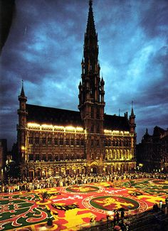 Carpet of Flowers  - Grand Place and Town Hall, Brussels, Belgium