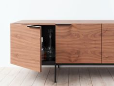 Frame sideboard in walnut from the Pastoe Joost Selection 2015