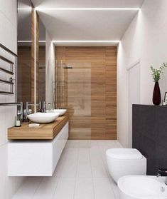 The other small bathroom design ideas are fresh and revolutionary, rethinking what we expect a bathroom design should look like. design badezimmer 10 Small Bathroom Ideas for Minimalist Houses Houzz Bathroom, Small Bathroom Tiles, Modern Bathroom Design, Contemporary Bathrooms, Bathroom Interior Design, Bathroom Designs, Bathroom Goals, Interior Ideas, Bathroom Mirrors