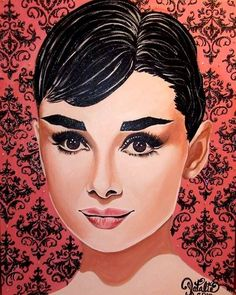 Collection of the rarest, most unique, original celebrity & mermaid paintings,Hand-painted & hand-crafted by Natalie Lynn Cunial Audrey Hepburn Art, Pop Culture Art, Celebrity Portraits, Arte Pop, Graphic Illustration, Illustrations, Love Art, Old Hollywood, Bunt