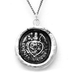 Gemma's Pyrrha Vanity Wax Seal Necklace