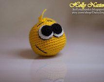 READY TO SHIP crochet smile ball