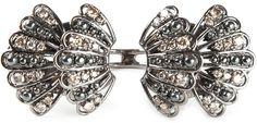 Nikos Koulis gold and brown diamond pavé ring