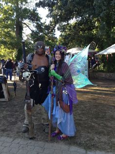 Lavendyre the Fairy with Sholo the Nubian at the TRF 2013