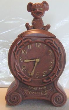 Vintage McCoy Cookie Jar Time for Cookies Mouse and Clock | eBay