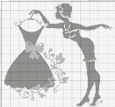 0 point de croix femme tenant une robe - cross stitch lady holding a dress: Cross Stitching, Cross Stitch Embroidery, Embroidery Patterns, Crochet Patterns, Loom Patterns, Just Cross Stitch, Cross Stitch Charts, Cross Stitch Patterns, Blackwork