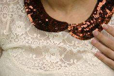 Grosgrain: Free Sequined Detachable Peter Pan Collar Pattern