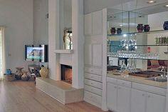 Living Room Fireplace  Wetbar