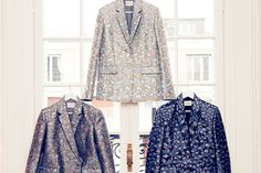 """Ever Wanted To Invade Mary Katrantzou's Closet?  #refinery29  http://www.refinery29.com/the-coveteur/50#slide20  """"The animal-shaped cookie cutters have been woven into these jacquard blazers, which were specially made by a family run weaver's studio in the South of France. Uniforms and trade inspired the cookie cutter design — it was about creating an animal print from the cookie cutters that bakers use.""""Jackets, Mary Katrantzou."""