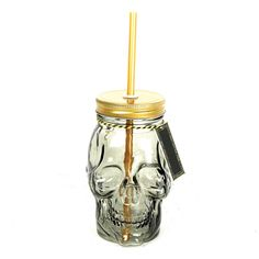 Skull Drinking Jar