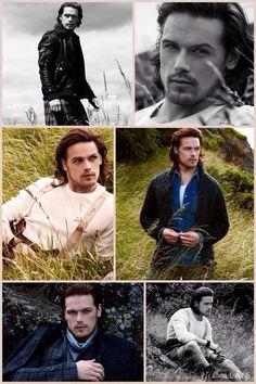 @ADramOfDes: I made a collage... Enjoy! #outlander Sam Heughan rocks the @JustJared  photo shoot.
