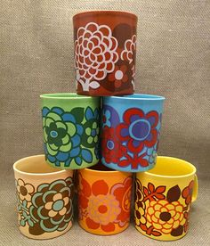 """My most precious set of Staffordshire Pottery Mugs with the stamp """"kilncraft"""""""