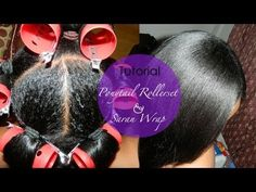 Ponytail Roller set with Saran Wrap Method using Original Moxie Products...
