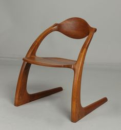 Wendell Castle (Rochester, NY, B. 1932.) Walnut Zephyr Chair | Cottone Auctions