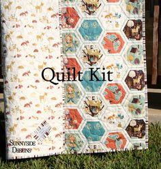 Aztec Deer Quilt Kit, Tribal Baby Bedding Blanket Project, Art ... : baby quilting kits - Adamdwight.com