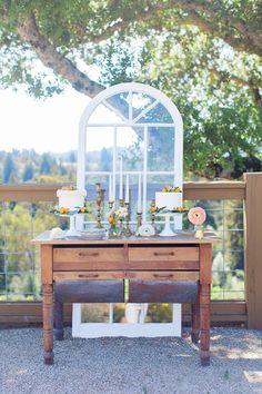 Cake table #california #winery #inspiration