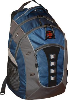 593ff56315f4 Swiss Gear Granite Double Gusset 16 Padded Laptop Backpack BlackBlueGrey --  You can get additional