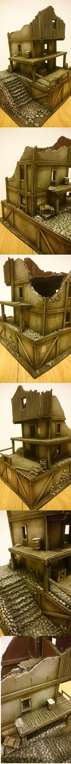 scratchbuilt fantasy ruin for mordheim or malifaux