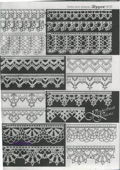 crochet edgings @Af's collection Gallery.ru / Фото #46 - образцы вязания - angebaltik