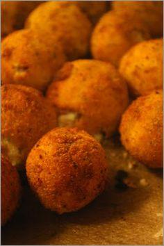 Fried Bacon Mashed Potato Balls #bacon  #recipe