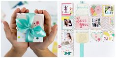 My shiny studio: One page minialbum with Silhouette cut file