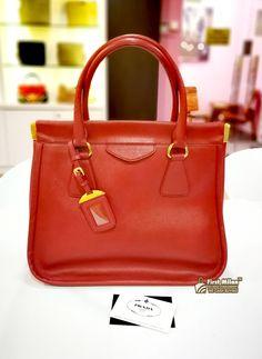 8f4cd41caef2 PRADA Saffiano Leather Lux Frame Bag RM2680