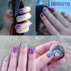 This purple glitter could not be any brighter, totally love it! #mani #jamberry #nochips